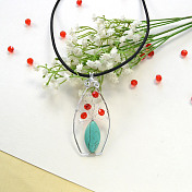 Elegant Vase Pendant with Turquoise and Glass Beads