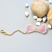 Pretty Bracelet with Pink Bow-Knot