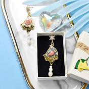 Elegant Resin Dangle Earrings with Flower