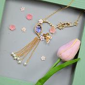 Spring Golden Tassel Necklace